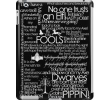 Words Lotr white font iPad Case/Skin