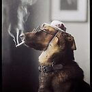 """Alex"" the Smoking Police Dog by Dana Keller"