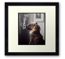 """""""Alex"""" the Smoking Police Dog Framed Print"""