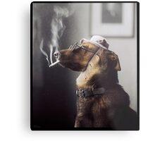 """Alex"" the Smoking Police Dog Metal Print"