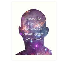 Human Beings - Universe Art Print