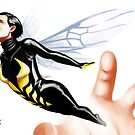 Escaping wasp by WheelOfFortune