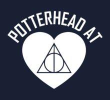 HARRY POTTER - POTTERHEAD AT HEART V.2 White Kids Clothes
