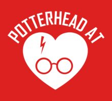 HARRY POTTER - POTTERHEAD AT HEART WHITE by thischarmingfan