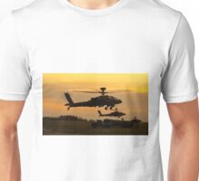 Apache refuelling point at sunset Unisex T-Shirt