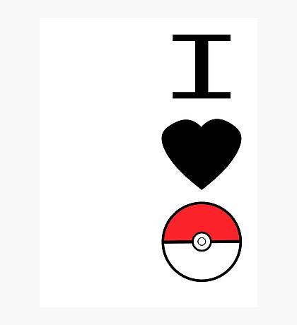I Heart Pokemon Photographic Print