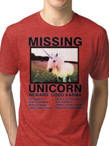 Missing unicorn Tri-blend T-Shirt