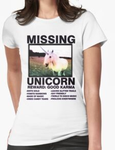 Missing unicorn Womens Fitted T-Shirt