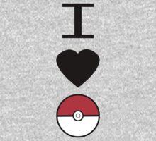 I Heart Pokemon Baby Tee
