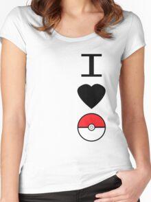 I Heart Pokemon Women's Fitted Scoop T-Shirt