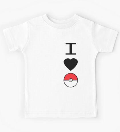 I Heart Pokemon Kids Tee