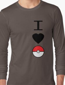 I Heart Pokemon Long Sleeve T-Shirt
