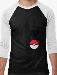 I Heart Pokemon Men's Baseball ¾ T-Shirt