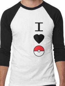 I Heart Pokemon Men's Baseball ¾ T-Shirt