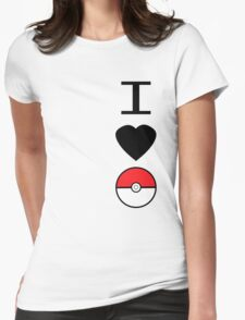 I Heart Pokemon Womens Fitted T-Shirt