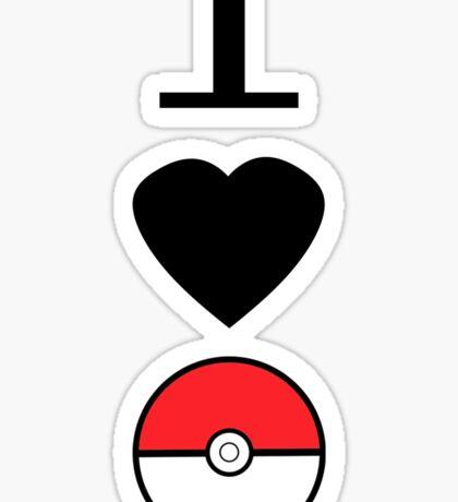 I Heart Pokemon Sticker