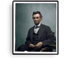 President Abraham Lincoln Canvas Print