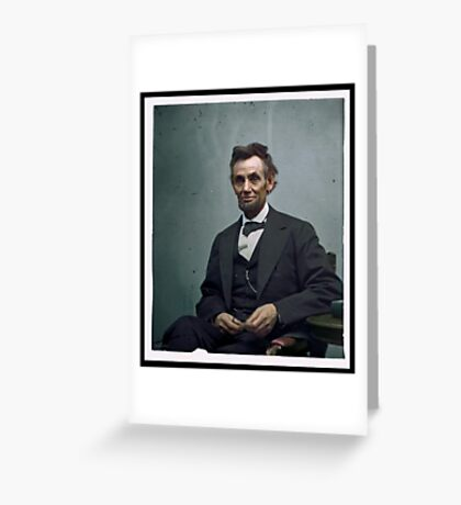 President Abraham Lincoln Greeting Card