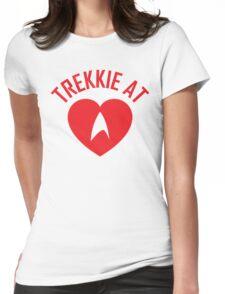 STAR TREK - TREKKIE AT HEART  Womens Fitted T-Shirt