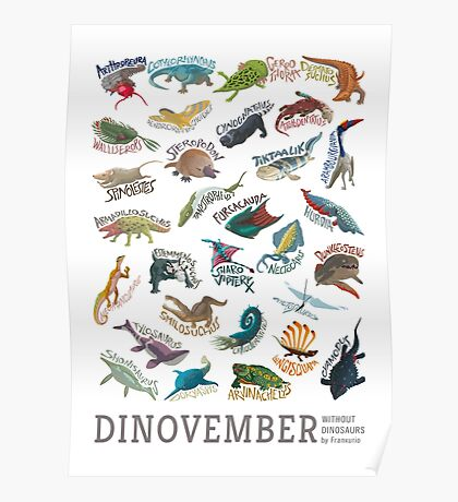 Dinovember Without Dinosaurs 2015 Poster