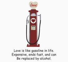 Retro Red Love Gas Pump with a Funny Love Quote by ibadishi