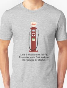 Retro Red Love Gas Pump with a Funny Love Quote T-Shirt