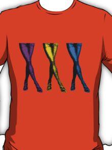 Sexy Colorful Legs, Pop Art T-Shirt