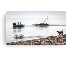 Returning From The Firewood Forage Canvas Print