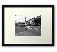 Making His Way Framed Print