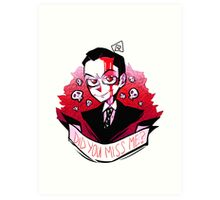 James Moriarty - Miss me? Art Print