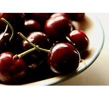 A Bowl Of Cherries Photographic Print