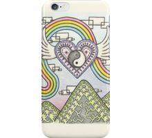 Yin Yang Heart Rainbow iPhone Case/Skin