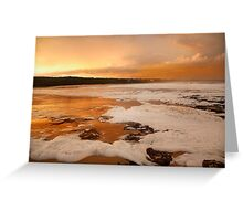 Orange Sunset at Merimbula Greeting Card