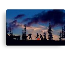 Campfire Tales (sky version) Canvas Print