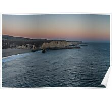 Dusk at Davenport - Santa Cruz County Poster