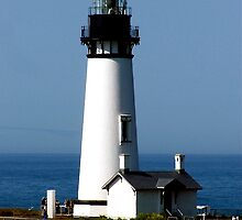 Yaquina Head lighthouse, Oregon by Nancy Richard