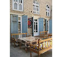 Courtyard Dining at Komil's Photographic Print