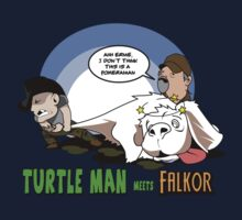 Turtleman meets Falkor by spikeani