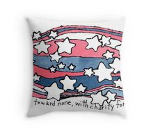 With Malice Toward None (Abraham Lincoln) Throw Pillow