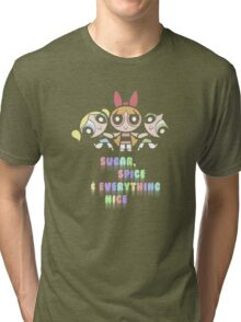 Powerpuff Girls Pastel Ingredients Tri-blend T-Shirt
