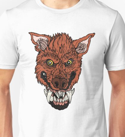 Werewolf- Red Orange Unisex T-Shirt
