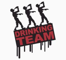 Drunken Party Zombies Drinking Team by Style-O-Mat