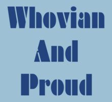 Whovian And Proud! One Piece - Short Sleeve