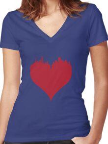 Boston Love Women's Fitted V-Neck T-Shirt
