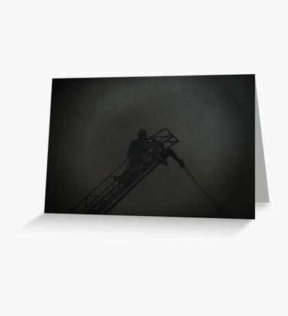Through The Smoke - British Columbia Canada Greeting Card