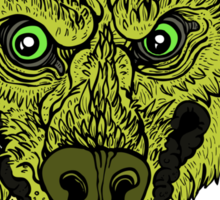 Werewolf- Lime Sticker