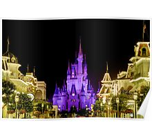 Cinderella Castle at Night - Natural Poster