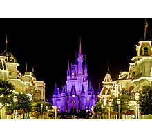 Cinderella Castle at Night - Natural Photographic Print