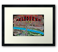 Melbourne on Fire Framed Print
