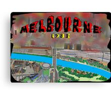 Melbourne on Fire Canvas Print